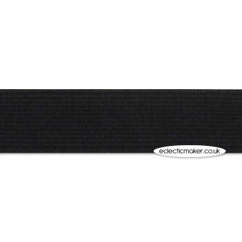Woven Elastic in Black - 19mm (3/4 inch)