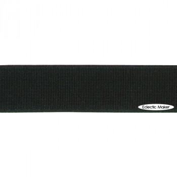 Woven Elastic in Black - 20mm