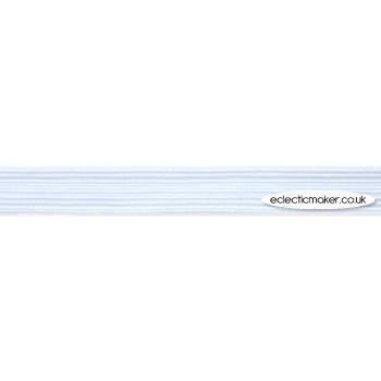 Hemline Polyester Elastic in White - 12mm (1/2 inch)