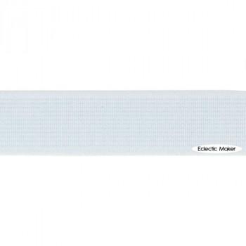 Woven Elastic in White - 20mm