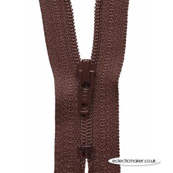 YKK Zipper Dress & Skirt in Brown