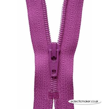 YKK Zipper Dress & Skirt in Dark Fuchsia