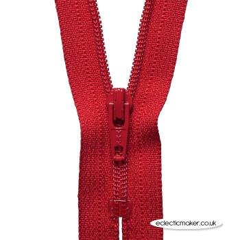 YKK Zipper Dress & Skirt in Red