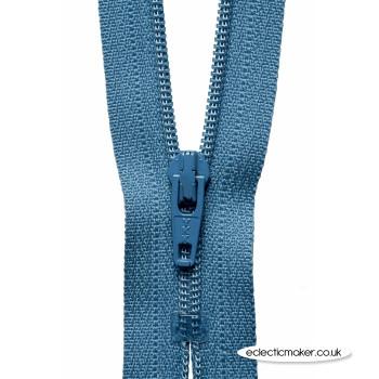 YKK Zipper Dress & Skirt in in Slate Blue