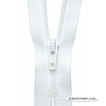 YKK Zipper Dress & Skirt in White